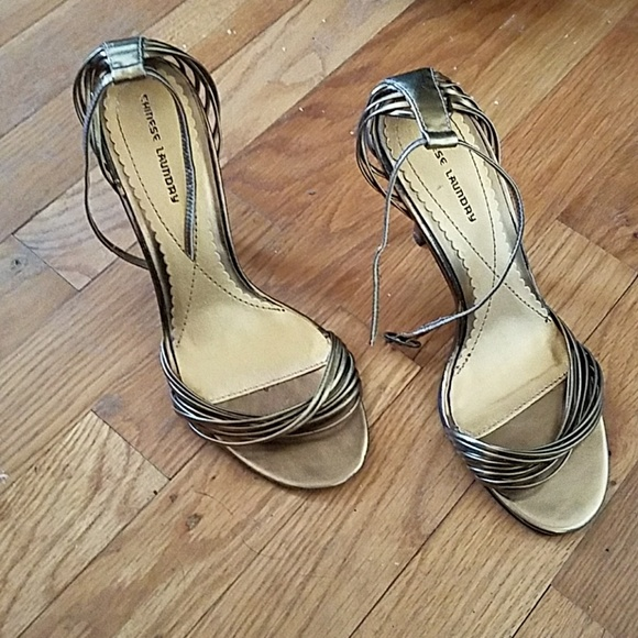2b4ea97227 Chinese Laundry Shoes   Gold Strappy High Heels Sandals 7   Poshmark
